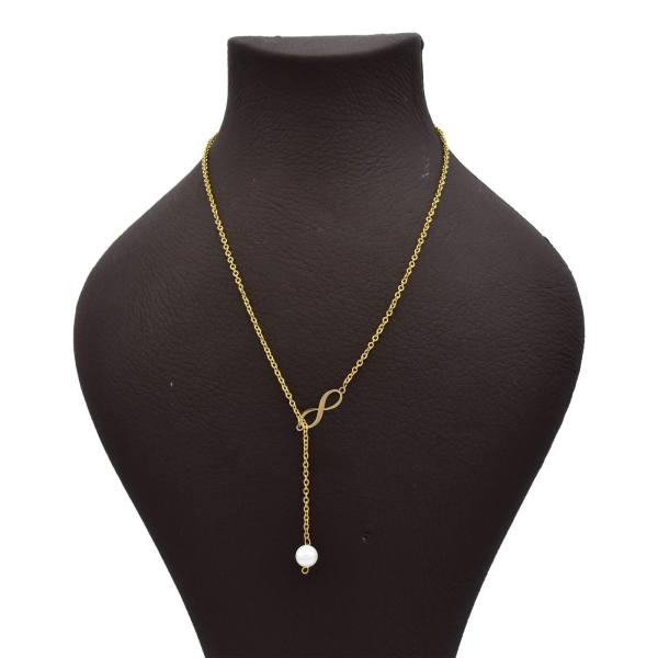 گردنبند طلا 18 عیار زنانه زرلوکس طرح بی نهایت کد Zr13