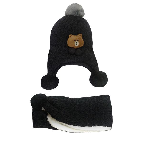 ست کلاه و شال گردن بافتنی مدل GB101-4