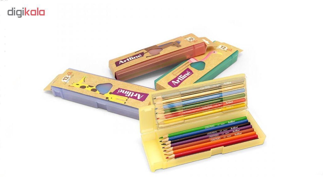 مداد رنگی 14 رنگ آرت لاین مدل ECP12-PLS/IL main 1 4