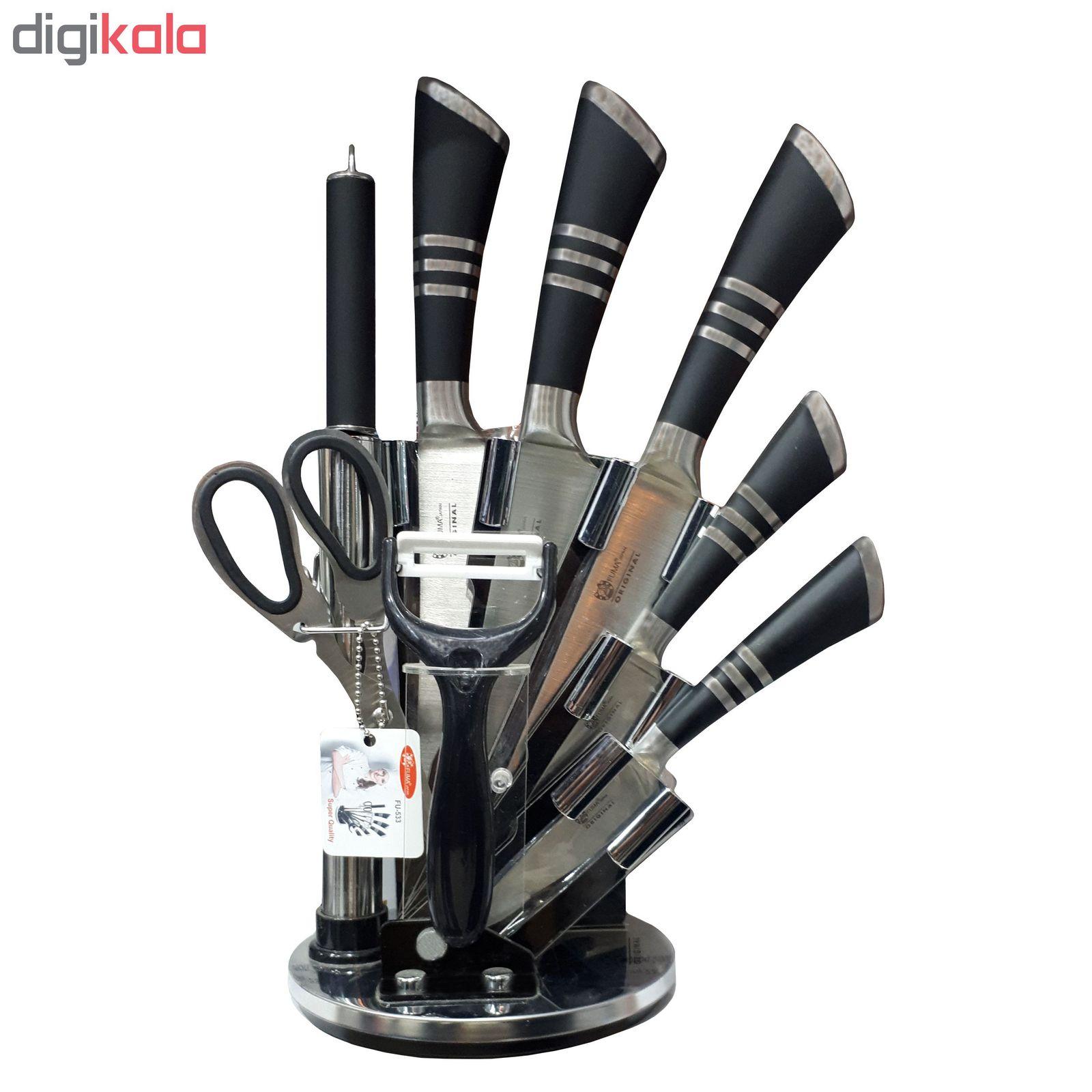 سرویس چاقو آشپزخانه 9 پارچه فوما مدل FU-533 main 1 1