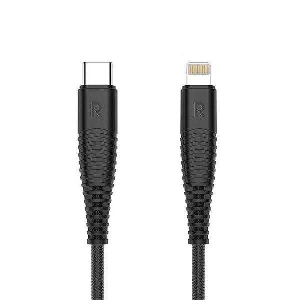 کابل تبدیل USB-C به لایتنینگ راوپاور مدل CB-020 طول 1 متر