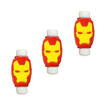 محافظ کابل طرح Iron Man کد 3313 بسته 3 عددی