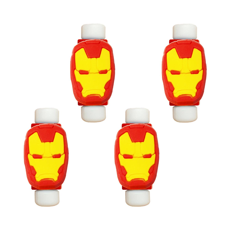محافظ کابل طرح Iron Man کد 3313 بسته 4 عددی