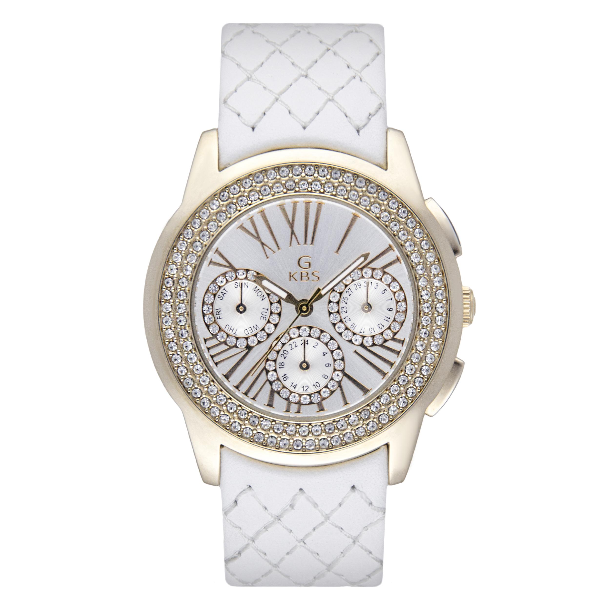 ساعت مچی عقربه ای زنانه جی کی بی اس مدل SN-2145-SGW              خرید (⭐️⭐️⭐️)