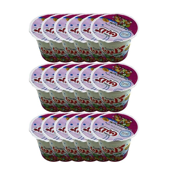 آلوچه لیوانی گلین مقدار 100 گرم بسته 18 عددی