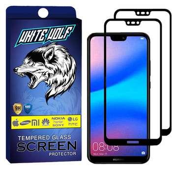 محافظ صفحه نمایش وایت ولف مدل WGF مناسب برای گوشی موبایل هوآوی  Nova 3e بسته 2 عددی