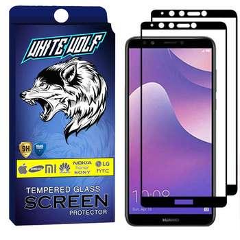 محافظ صفحه نمایش وایت ولف مدل WGF مناسب برای گوشی موبایل هوآوی  Y7 Prime 2018 بسته 2 عددی