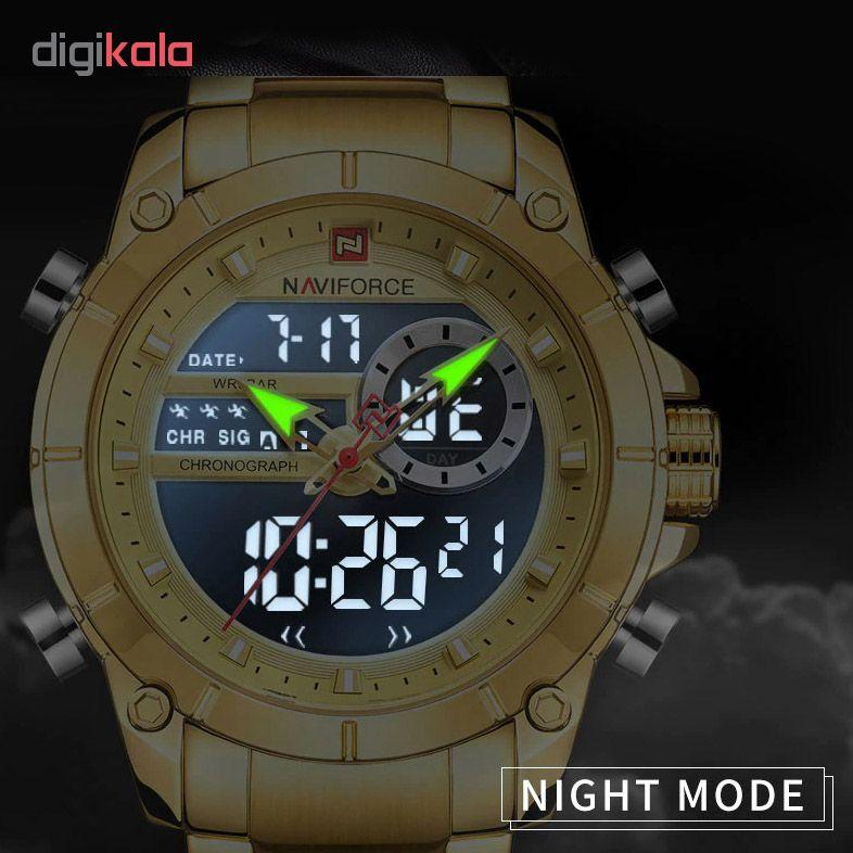 کد تخفیف                                      ساعت مچی عقربه ای مردانه نیوی فورس مدل NF9163 CG