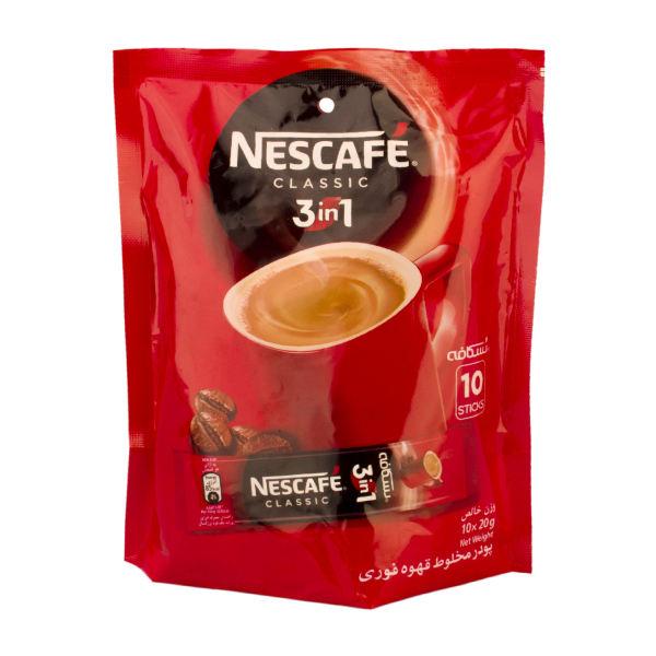 قهوه فوری کافی میکس نستله بسته 10 عددی