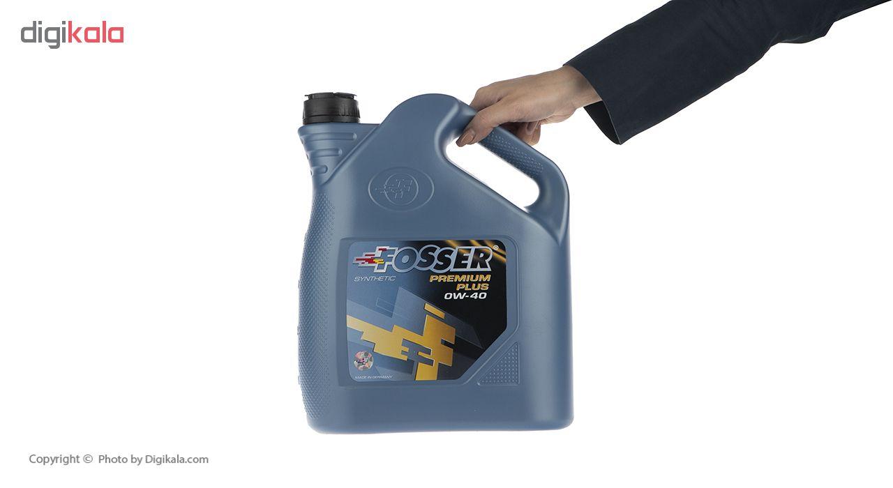 روغن موتور خودرو فوسر مدل Premium Plus 0W-40 حجم 5 لیتر