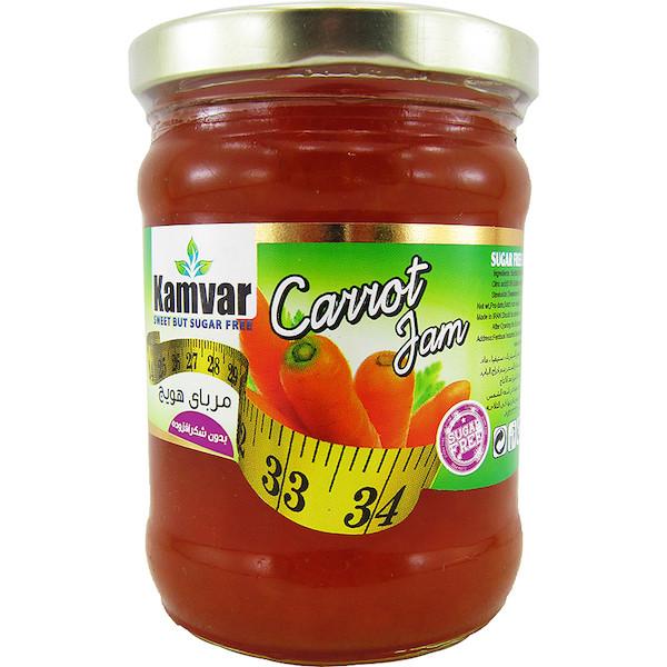 مربا هویج بدون قند کامور مقدار 280 گرم