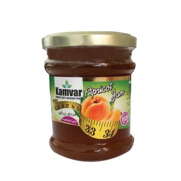 مربا زردآلو بدون قند کامور مقدار ۲۹۰ گرم
