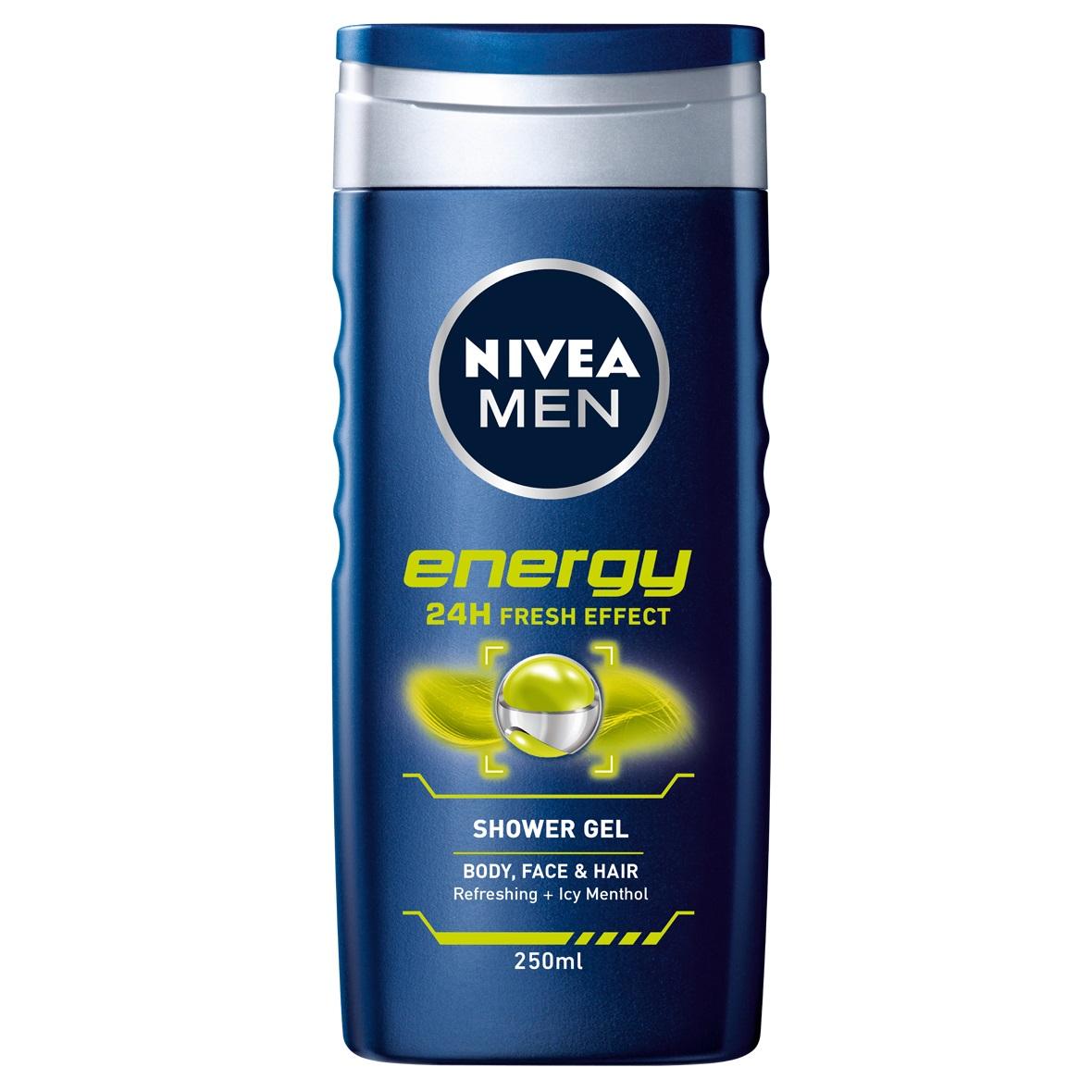 شامپو مو و بدن مردانه نیوآ مدل Energy حجم 500 میلی لیتر