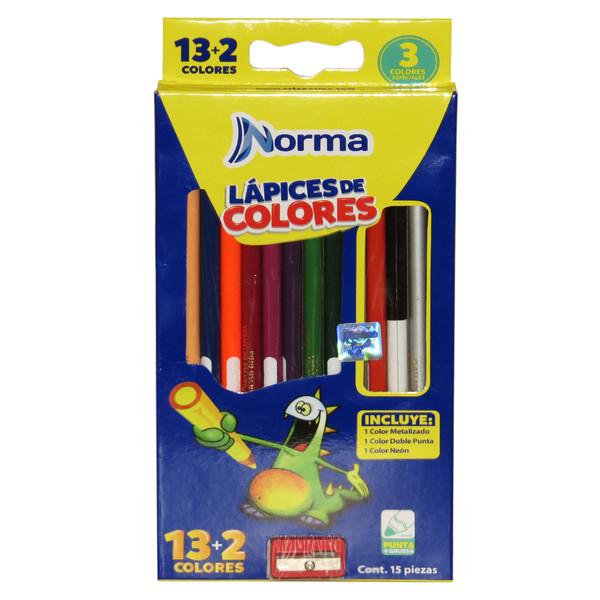 مداد رنگی 15 رنگ نورما مدل PUNTA