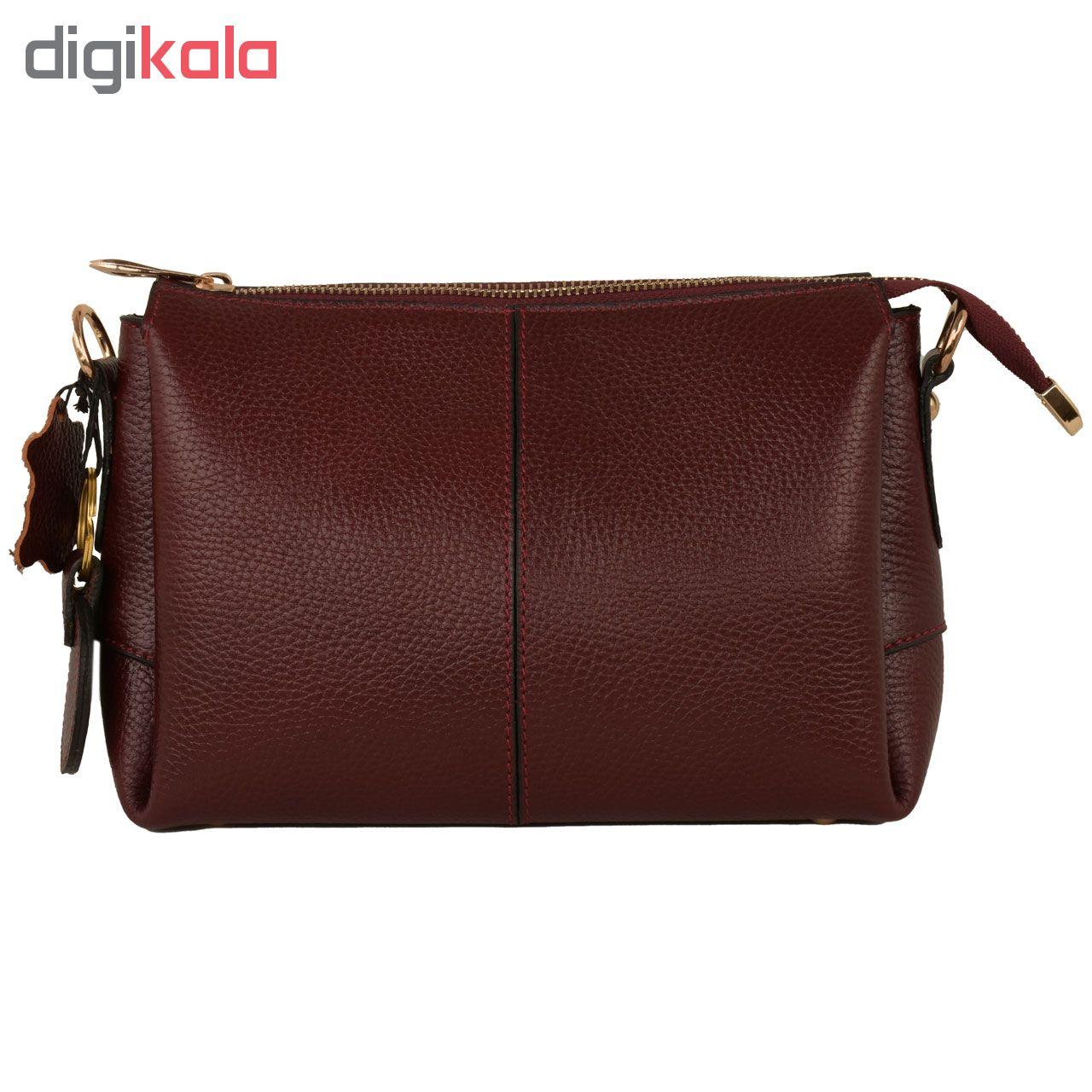 کیف دوشی زنانه پارینه چرم کد V188-12