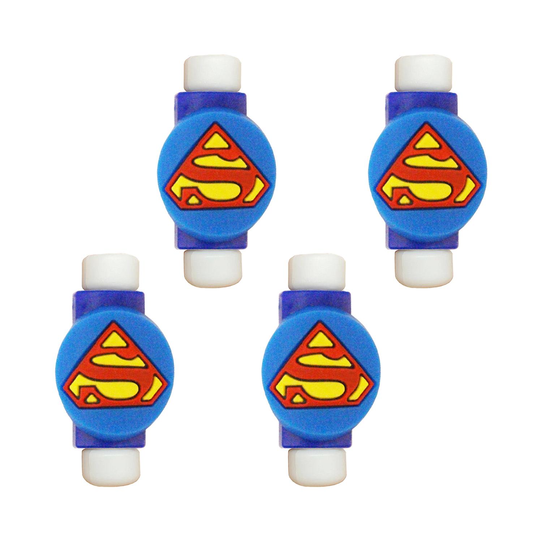 محافظ کابل طرح Super Man کد 3305 بسته 4 عددی