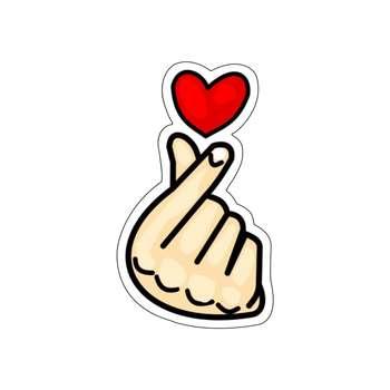 استیکر لپ تاپ طرح قلب کد ۰۲