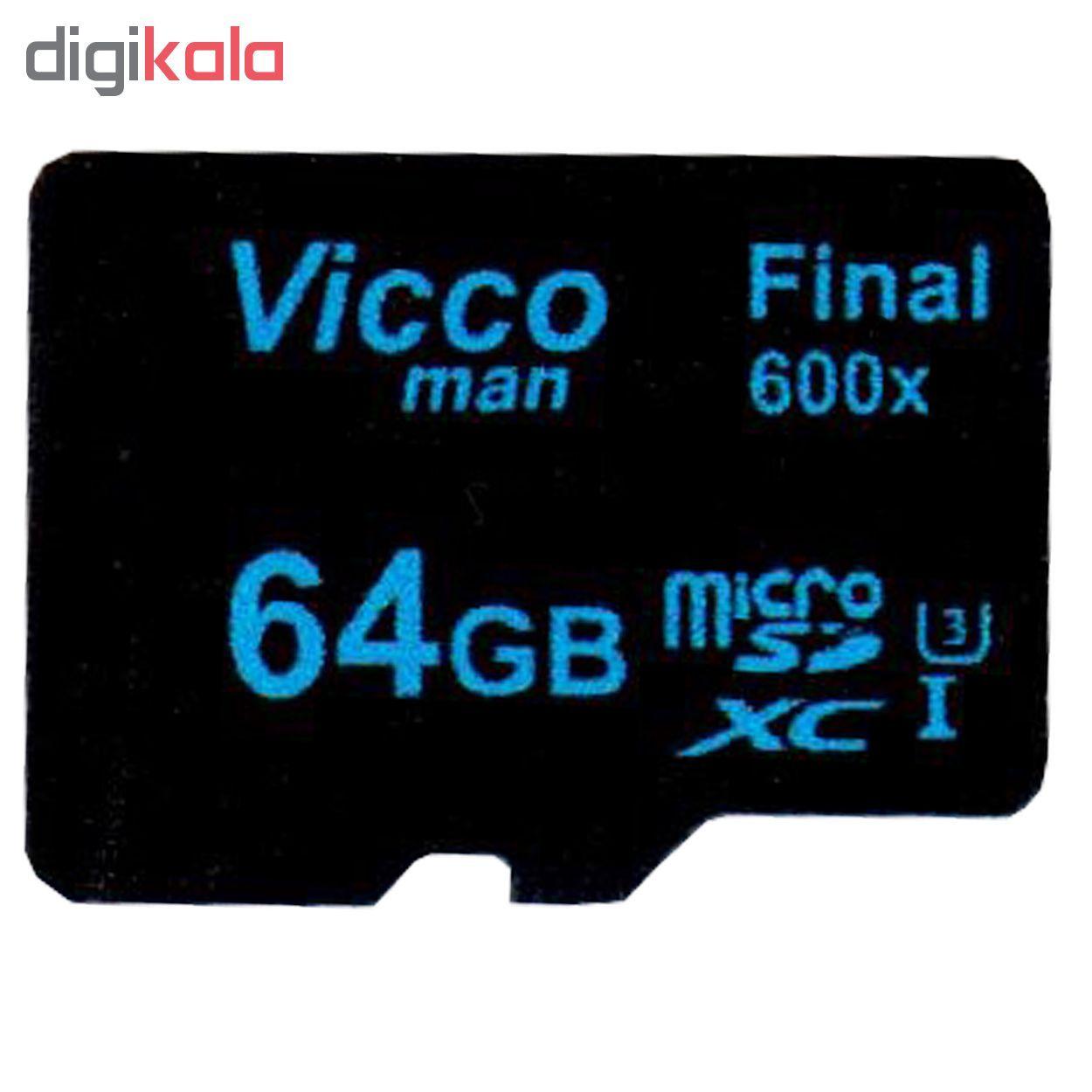 کارت حافظه microSDXC ویکومن مدل Final 600x کلاس 10 استاندارد UHS-I U3 سرعت90MBps ظرفیت 64 گیگابایت  main 1 1