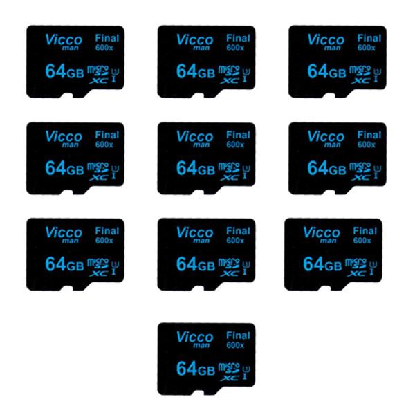 کارت حافظه microSDXC ویکومن مدل Final 600x کلاس 10 استاندارد UHS-I U3 سرعت90MBps ظرفیت 64 گیگابایت بسته 10 عددی