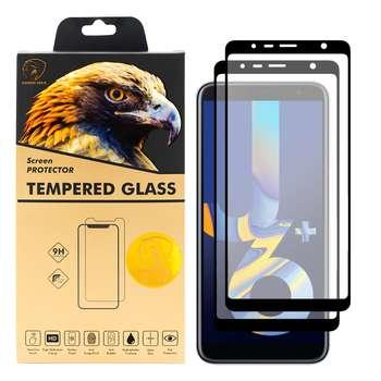 محافظ صفحه نمایش گلدن ایگل مدل DFC-X2 مناسب برای گوشی موبایل سامسونگ  Galaxy J6 Plus بسته دو عددی