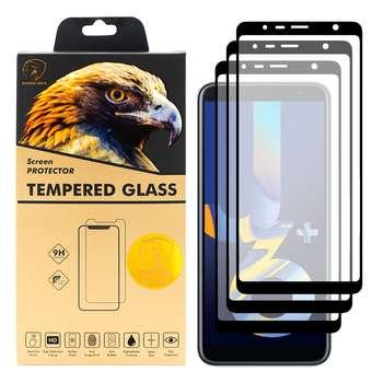 محافظ صفحه نمایش گلدن ایگل مدل DFC-X3 مناسب برای گوشی موبایل سامسونگ Galaxy J6 Plus بسته سه عددی