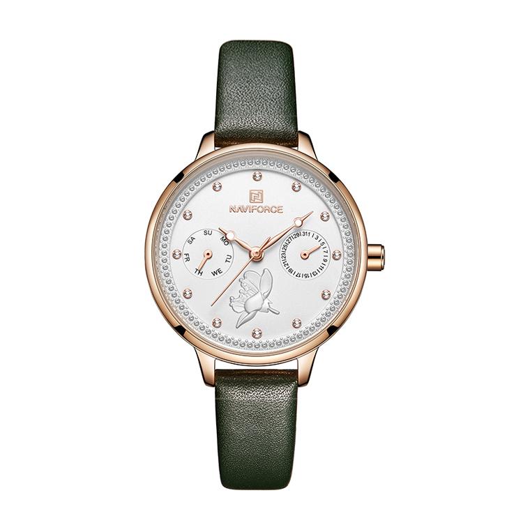 ساعت مچی عقربه ای زنانه نیوی فورس مدل NF5003RGWGN              خرید (⭐️⭐️⭐️)