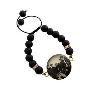 دستبند زنانه طرح  BTS کد 1007