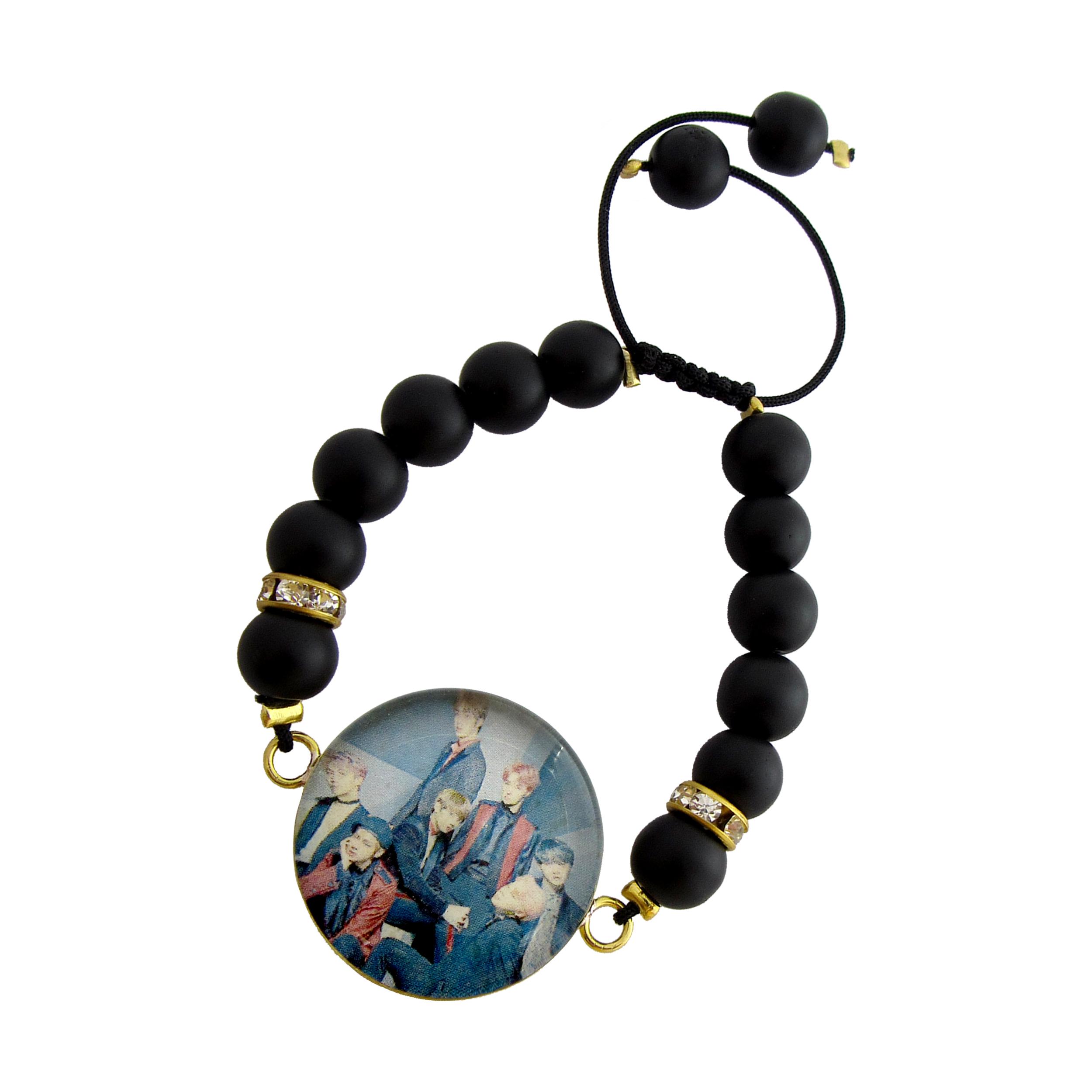 دستبند زنانه طرح BTS کد 1011