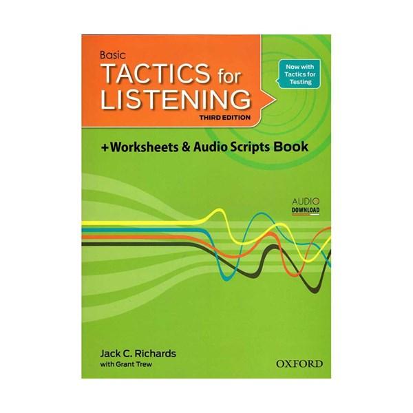 خرید                      کتاب  Basic Tactics For Listening third Edition  اثر Jack C.Richards and Grant Trew انتشارات Oxford