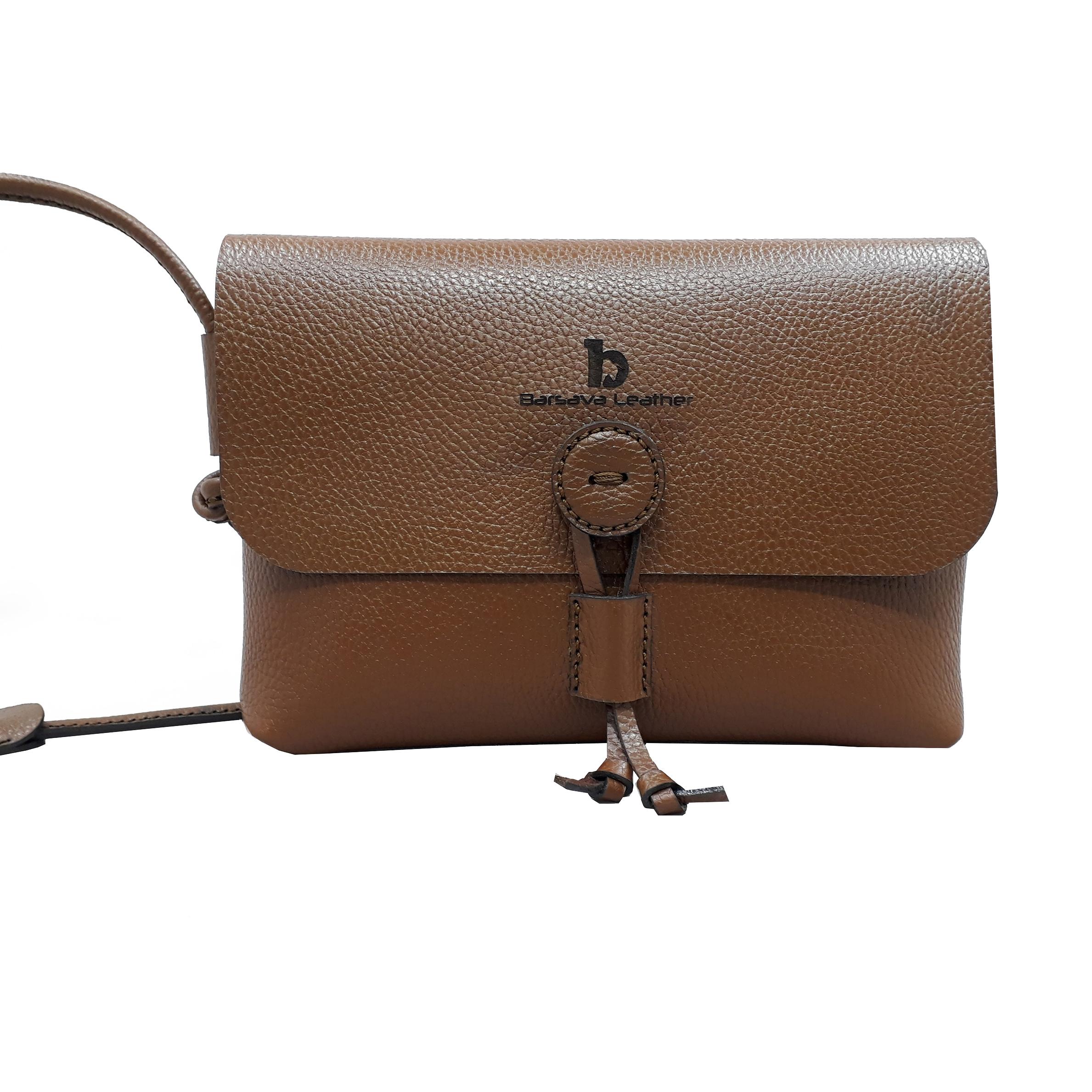 کیف دوشی زنانه چرم بارثاوا کد 1254