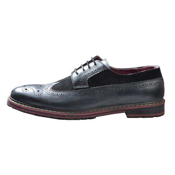 کفش چرم مهاجر مردانه مدل M11m
