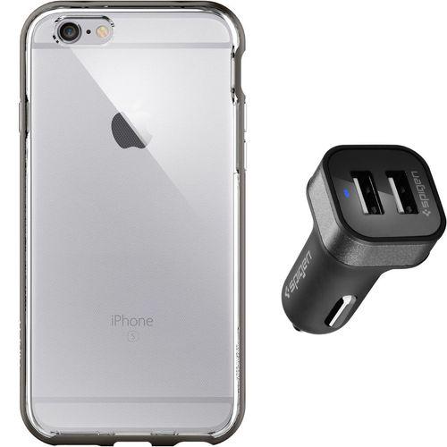 مجموعه کاور و شارژر فندکی اسپیگن شماره 2 مناسب برای گوشی موبایل آیفون 6s
