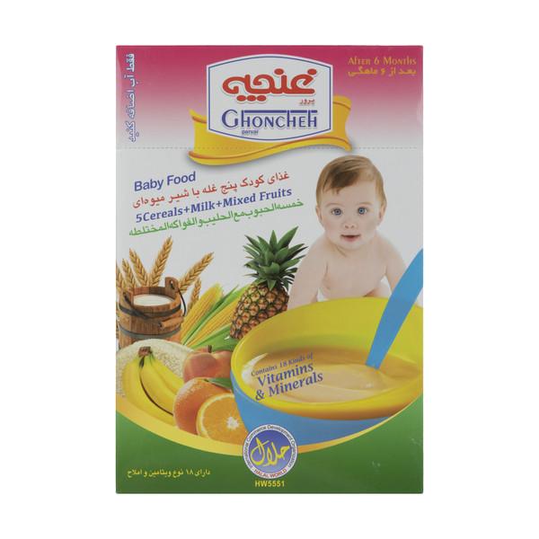غذا کودک پنج غله غنچه پرور با طعم شیر میوه ای  - 300 گرم