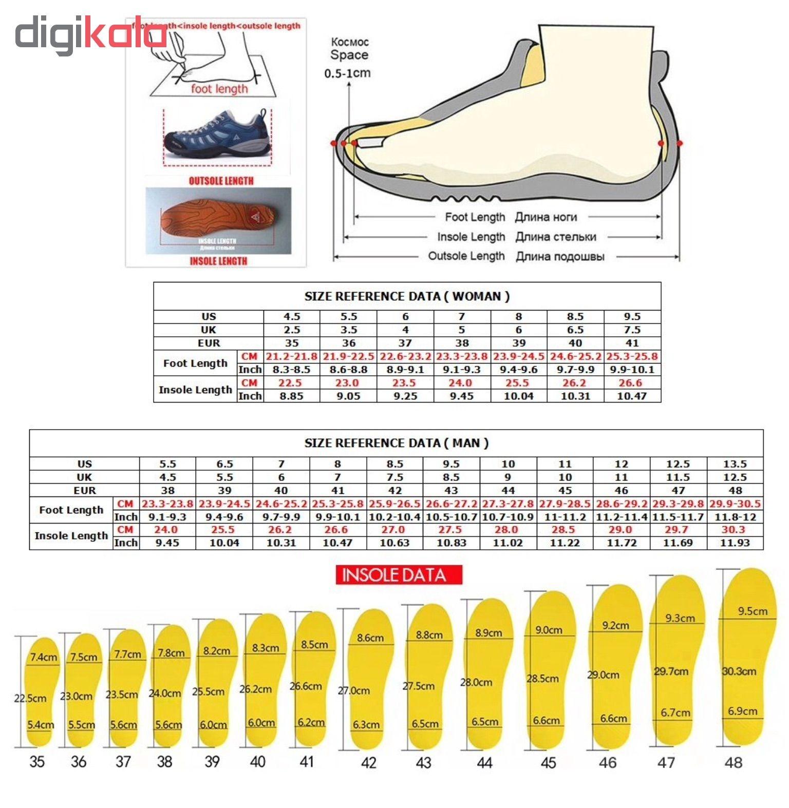خرید                                     کفش مخصوص پیاده روی مردانه هامتو مدل 1-1639