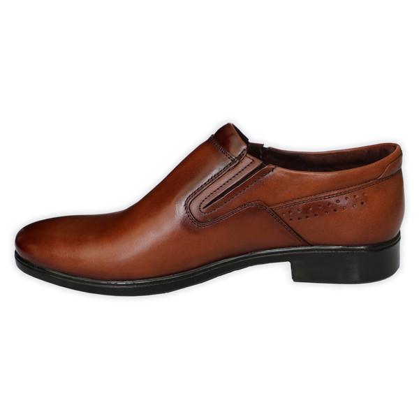 کفش مردانه چرم طبیعی نوین گام کد 00001