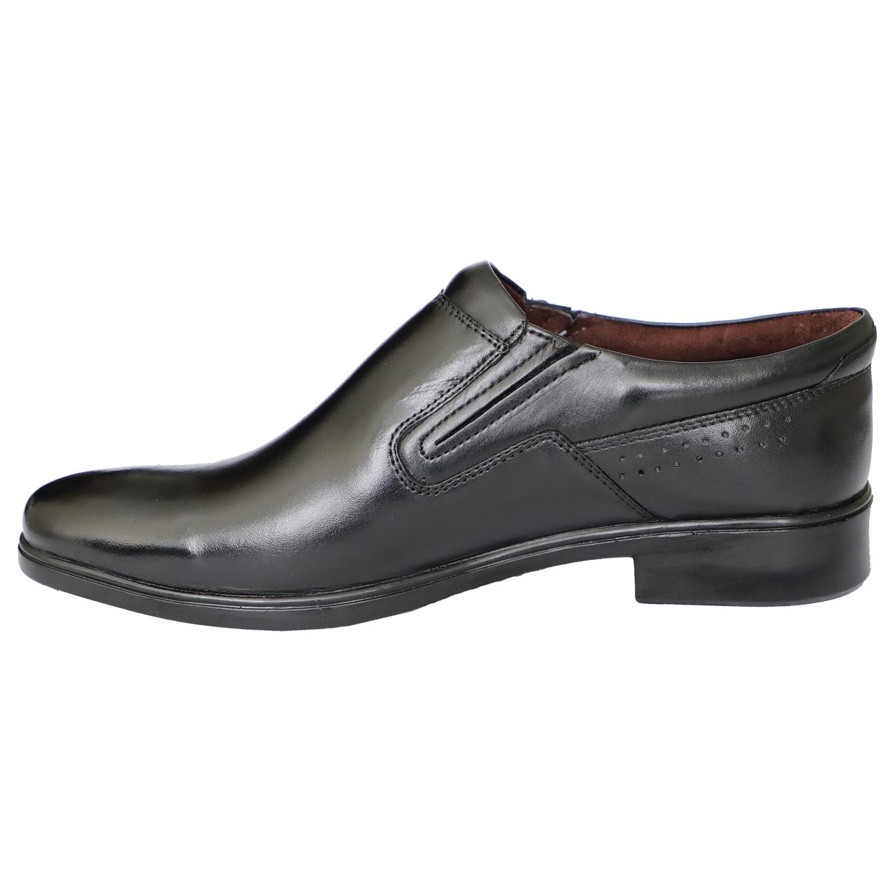 کفش مردانه چرم طبیعی نوین گام کد 000121