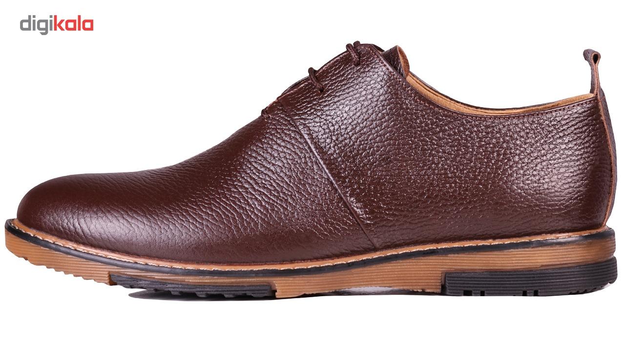 کفش مردانه چرم طبیعی ژاو مدل 1182