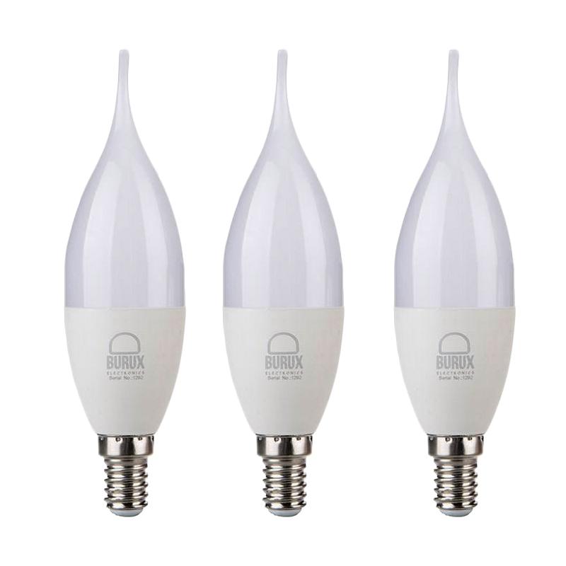 لامپ ال ای دی 7 وات بروکس پایه E14 بسته 3 عددی
