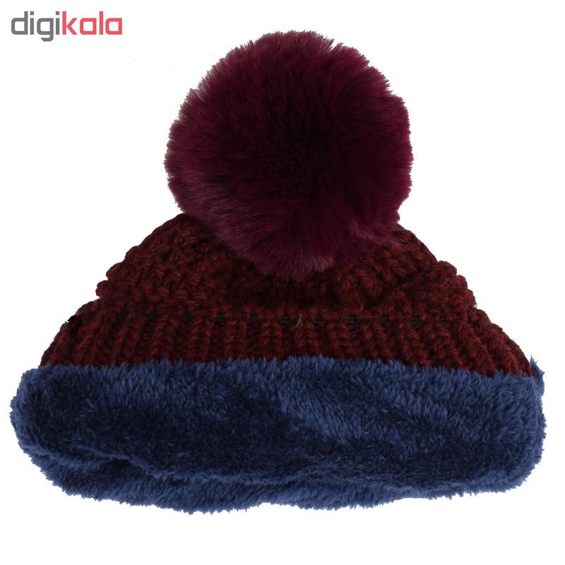 ست کلاه و شال گردن بافتنی مدل D05146