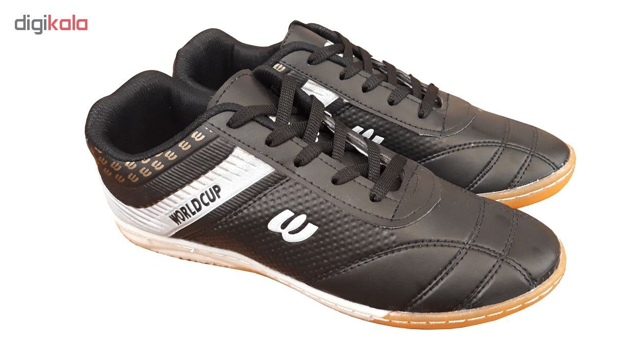 کفش فوتسال و فوتبال مردانه و پسرانه مدل WORLDCUP BLACK main 1 1