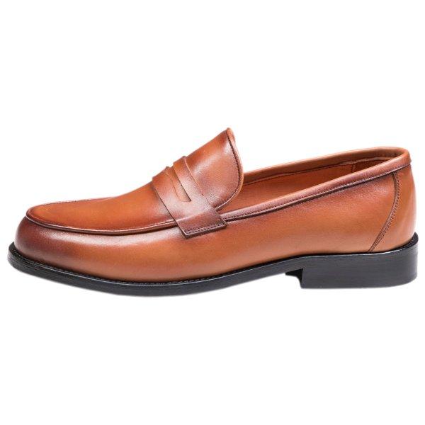 کفش مردانه سی سی مدل لوفر رنگ عسلی