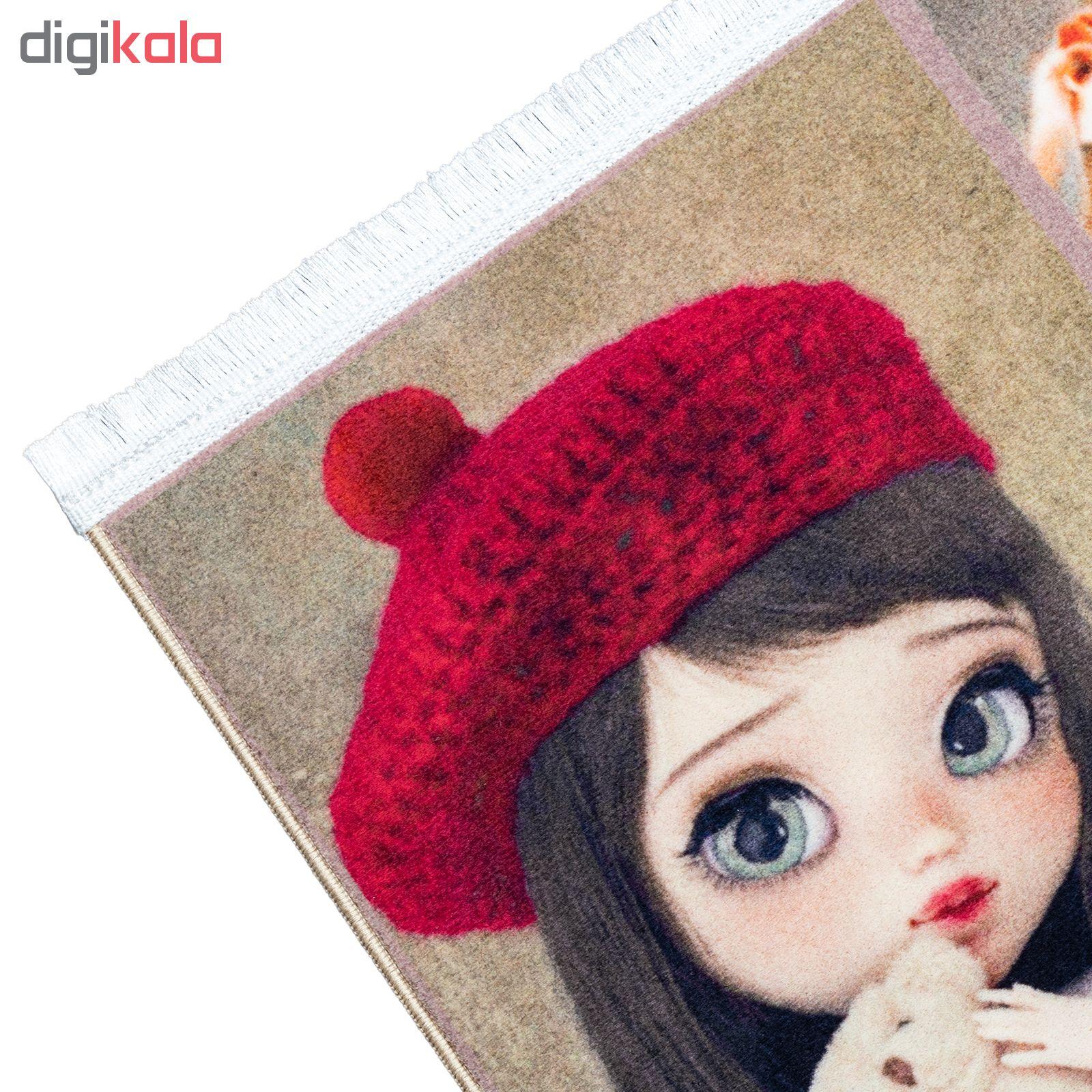 فرش ماشینی محتشم طرح کودک مدل دخترانه کد 100223