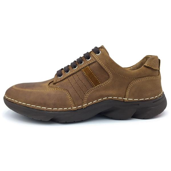 کفش چرم طبیعی مردانه مدل SHALK-AS