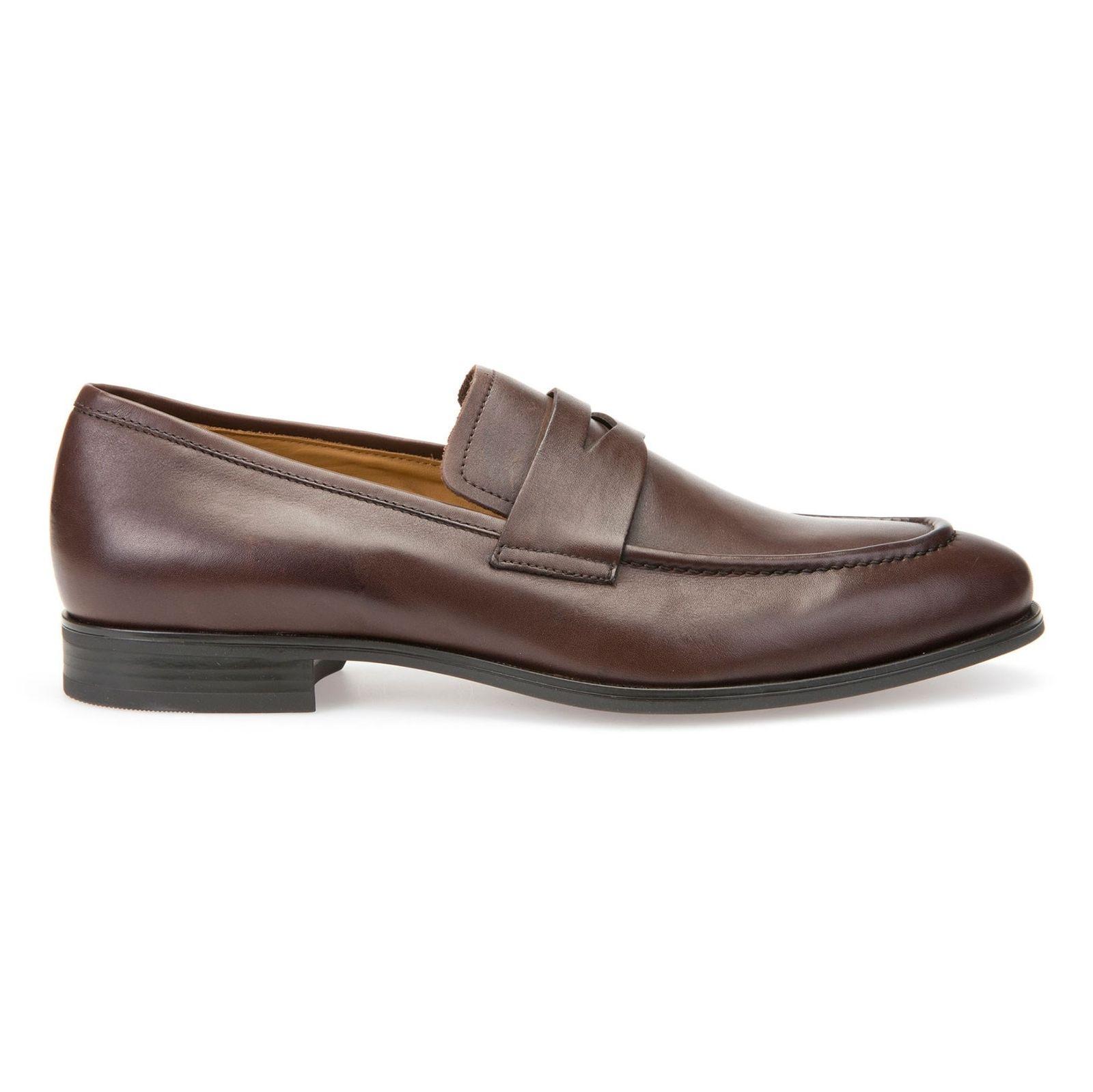 کفش رسمی چرم مردانه - جی اوکس - قهوه اي - 1