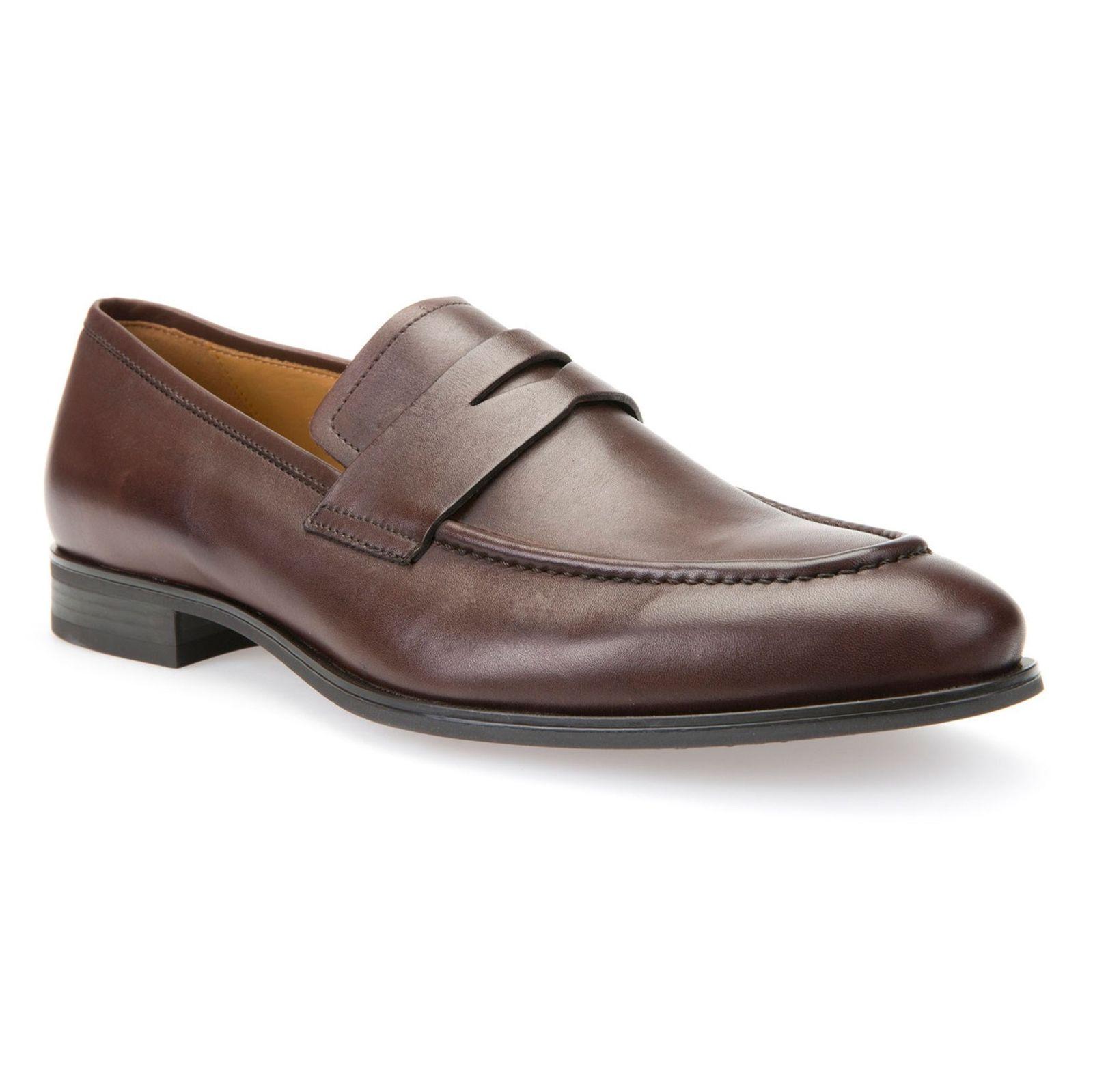 کفش رسمی چرم مردانه - جی اوکس - قهوه اي - 3