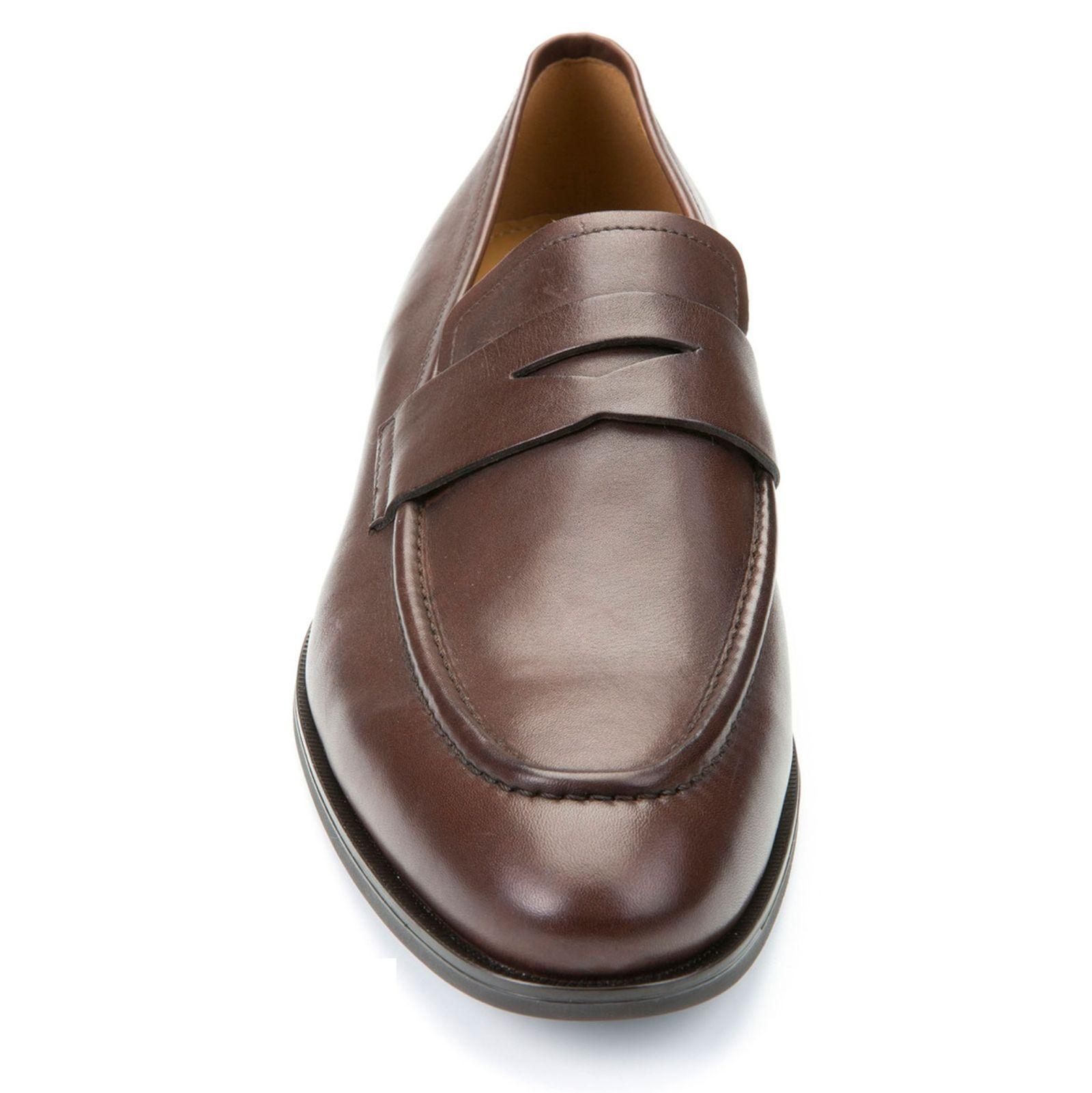 کفش رسمی چرم مردانه - جی اوکس - قهوه اي - 4