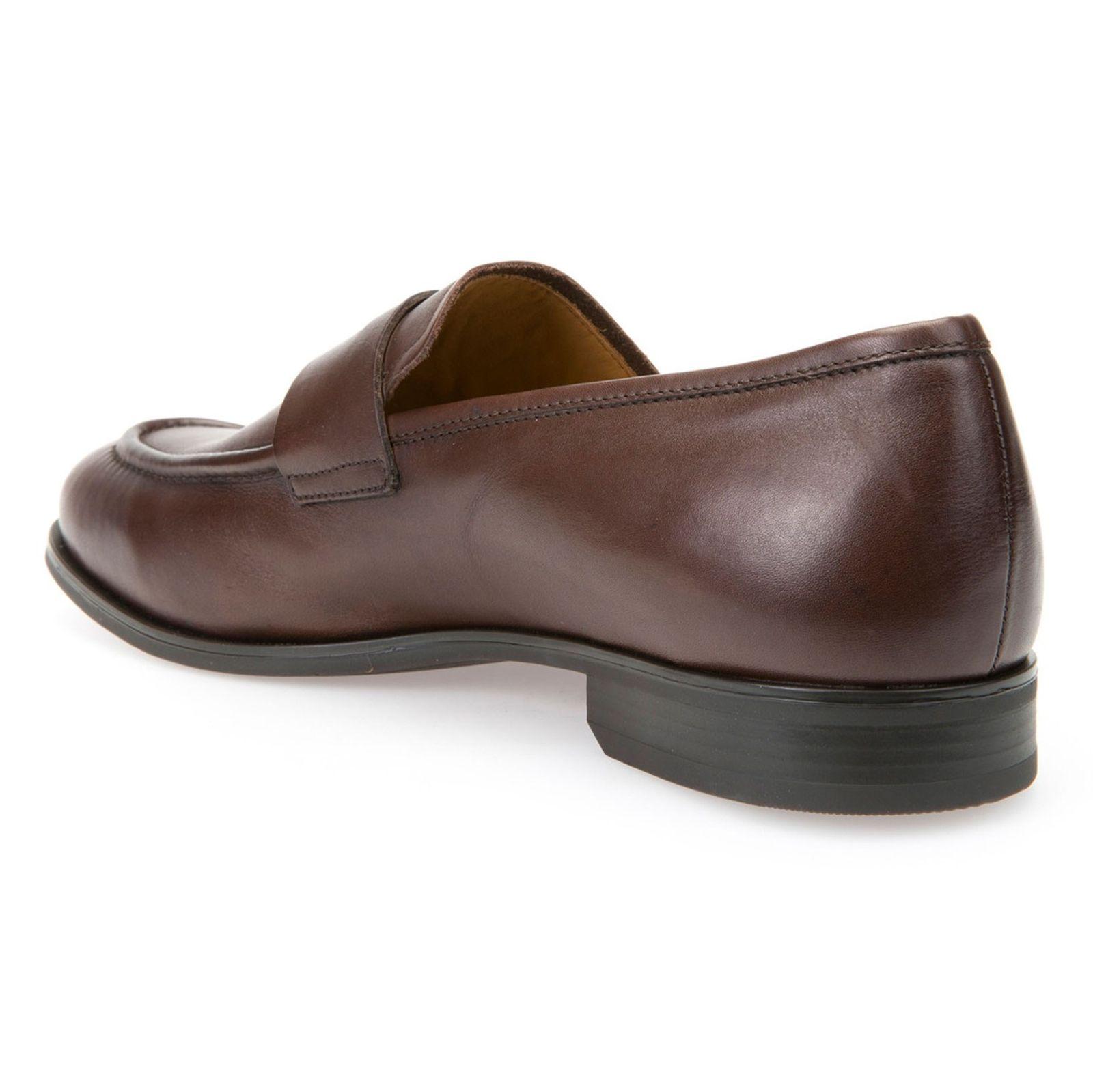 کفش رسمی چرم مردانه - جی اوکس - قهوه اي - 5