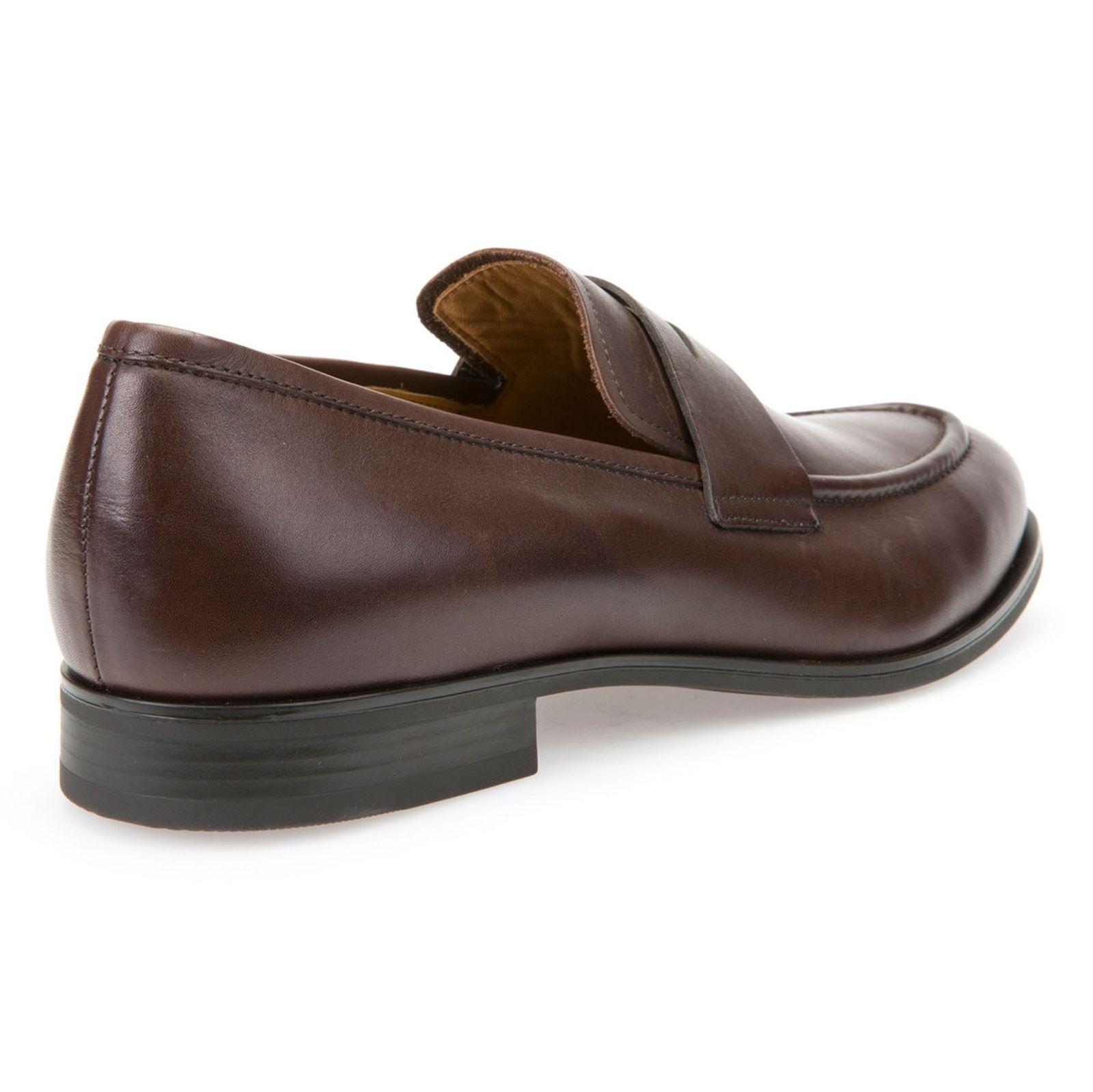 کفش رسمی چرم مردانه - جی اوکس - قهوه اي - 6
