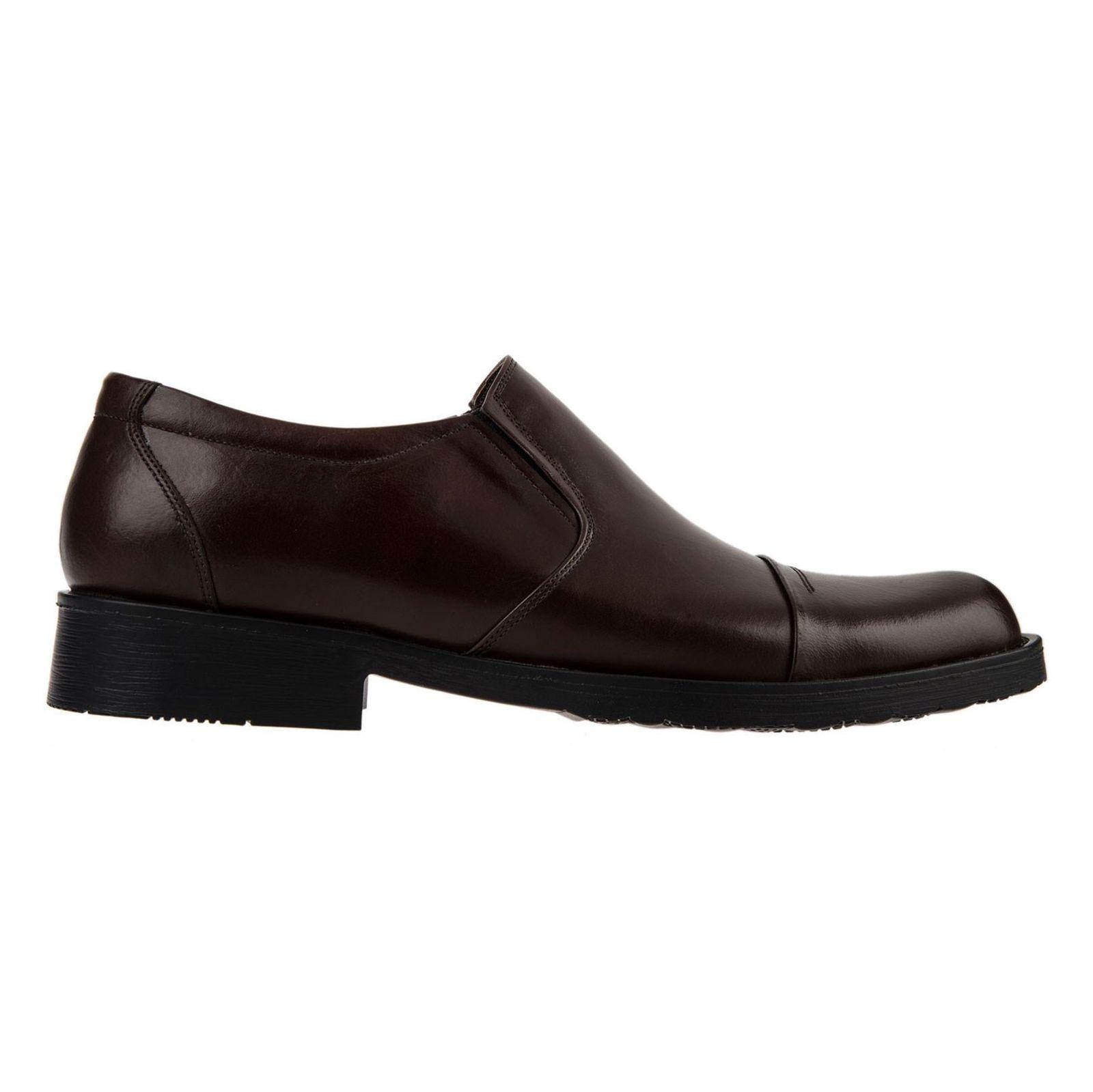 کفش اداری چرم مردانه - پانیسا - قهوه اي  - 1