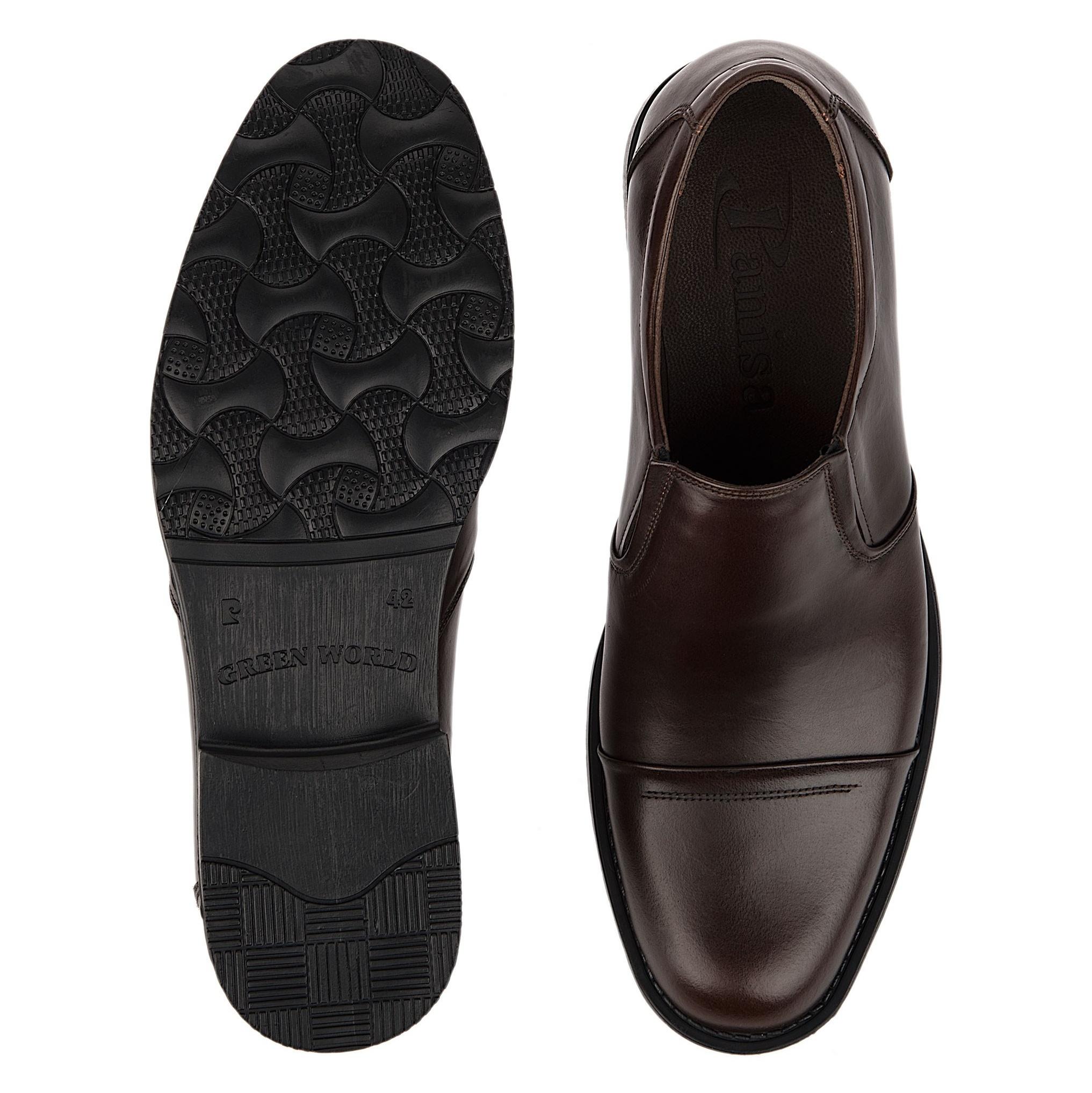 کفش اداری چرم مردانه - پانیسا - قهوه اي  - 2